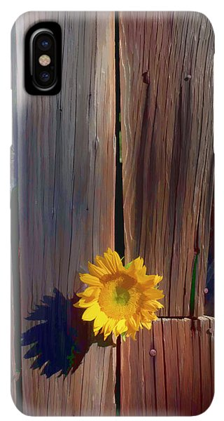 Sunflower Seeds iPhone XS Max Case - Sunflower In Barn Wood by Garry Gay