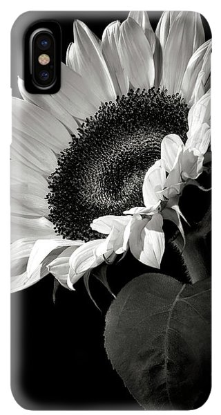 iPhone XS Max Case - Sunflower In Black And White by Endre Balogh