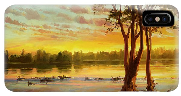 The Sun iPhone XS Max Case - Sunrise On The Columbia by Steve Henderson