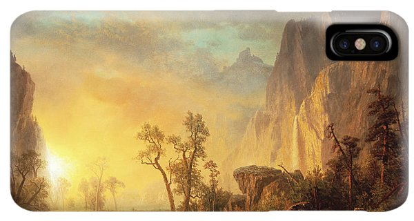 Rocky Mountain iPhone XS Max Case - Sunset In The Rockies by Albert Bierstadt