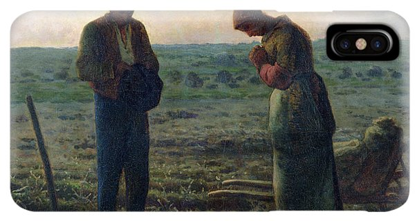 Prayer iPhone XS Max Case - The Angelus by Jean-Francois Millet