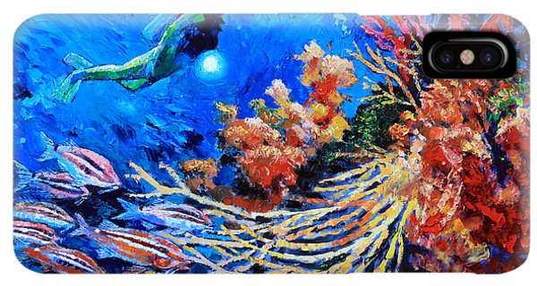 Scuba Diving iPhone XS Max Case - The Flow Of Creation by John Lautermilch