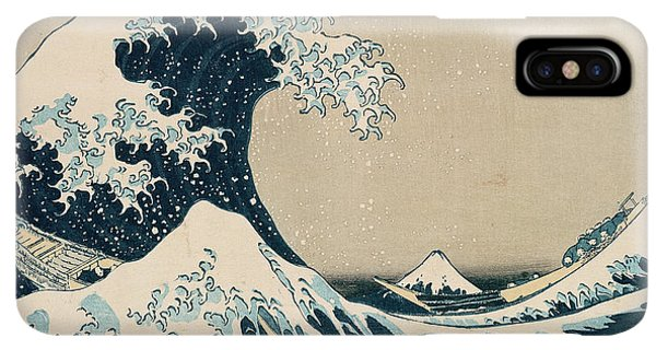The iPhone XS Max Case - The Great Wave Of Kanagawa by Hokusai