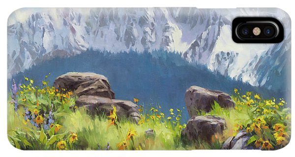The Sun iPhone XS Max Case - The Land Of Chief Joseph by Steve Henderson