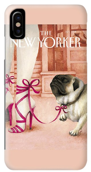Pug iPhone XS Max Case - The New Yorker Cover - September 27th, 2004 by Ana Juan