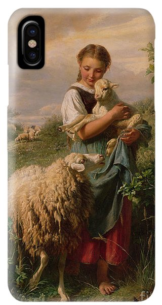 The iPhone XS Max Case - The Shepherdess by Johann Baptist Hofner