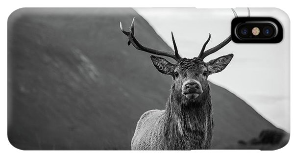 Scotland iPhone XS Max Case - The Stag.  by Mark Mc neill