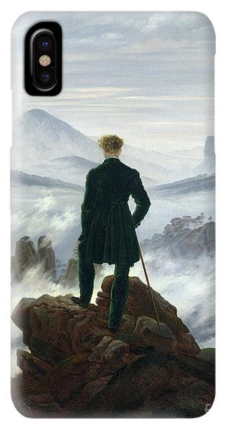 Rocky Mountain iPhone XS Max Case - The Wanderer Above The Sea Of Fog by Caspar David Friedrich