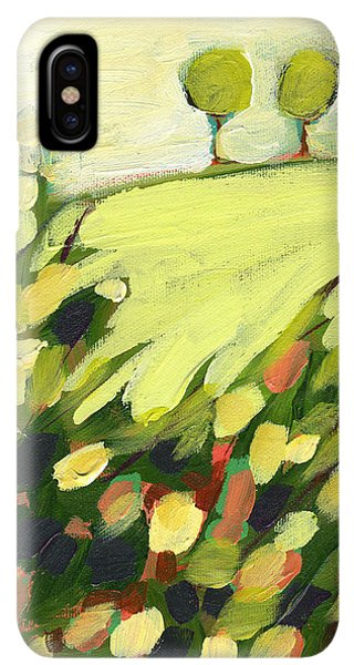 St. Patricks Day iPhone XS Max Case - Three Trees On A Hill by Jennifer Lommers