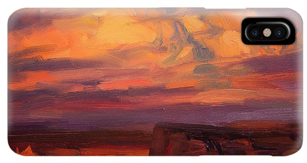 The Sun iPhone XS Max Case - Thundercloud Over The Palouse by Steve Henderson