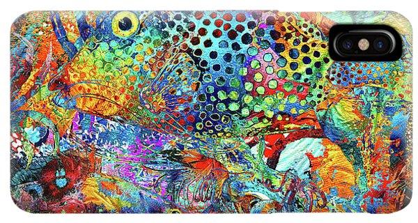 Humming Bird iPhone XS Max Case - Tropical Beach Art - Under The Sea - Sharon Cummings by Sharon Cummings