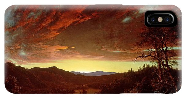 The Sun iPhone XS Max Case - Twilight In The Wilderness by Frederic Edwin Church