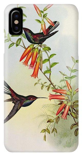 Humming Bird iPhone XS Max Case - Urochroa Bougieri by John Gould