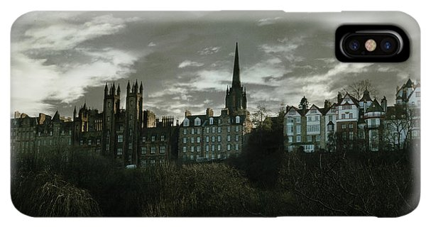 Scotland iPhone XS Max Case - view of Edinburgh II by Cambion Art