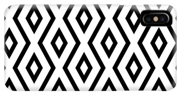 Abstract iPhone XS Max Case - White And Black Pattern by Christina Rollo