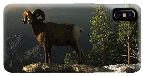 Rocky Mountain Bighorn Sheep iPhone XS Max Case - Wild Ram by Daniel Eskridge