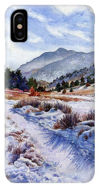 Rocky Mountain iPhone XS Max Case - Winter Wonderland by Anne Gifford