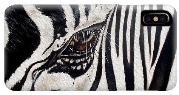 Africa iPhone XS Max Case - Zebra Eye by Ilse Kleyn