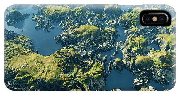 South America iPhone XS Max Case - Amazon River Birds Eye View by Dariush M