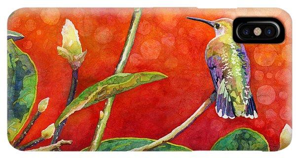 Humming Bird iPhone XS Max Case - Dreamy Hummer by Hailey E Herrera