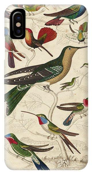 Humming Bird iPhone XS Max Case - Trochilus, Hummingbirds by William Davis