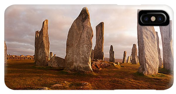 Scotland iPhone XS Max Case - Callanish Standing Stones Neolithic by Unknown1861