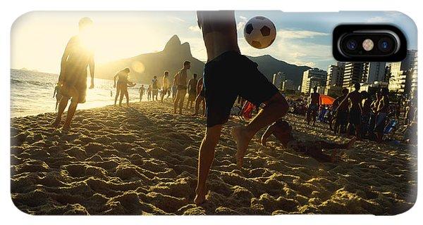 South America iPhone XS Max Case - Carioca Brazilians Playing Altinho by Lazyllama