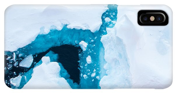Navigation iPhone XS Max Case - Close Up Photo Of Beautiful Blue Ice In by Mikhail Varentsov