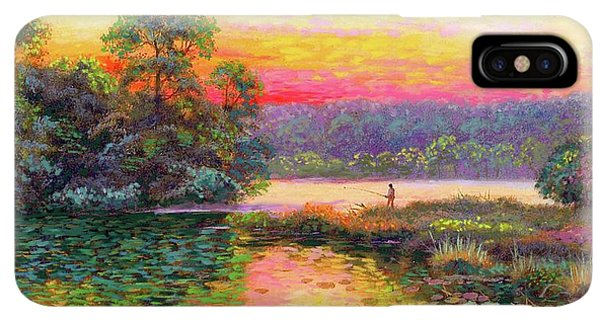 Scotland iPhone XS Max Case - Fishing In Evening Glow by Jane Small
