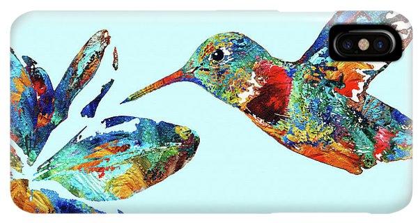 Humming Bird iPhone XS Max Case - Hummingbird Blue - Sharon Cummings by Sharon Cummings