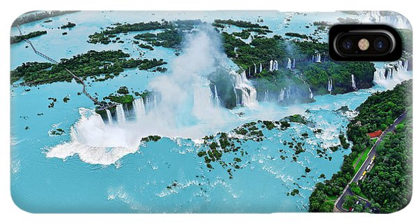 South America iPhone XS Max Case - Iguazu Waterfalls From Helicopter by Elena Odareeva