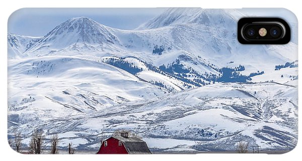 Rocky Mountain iPhone XS Max Case - Montana Farm Dwarfed By Tall Mountains by Mh Anderson Photography