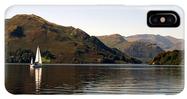 Navigation iPhone XS Max Case - Sailboat On Ullswater In The Lake by Paul Banton