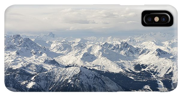 Rocky Mountain iPhone XS Max Case - Snow Covered Alps Mountains Aerial View by Ivan Aleshin