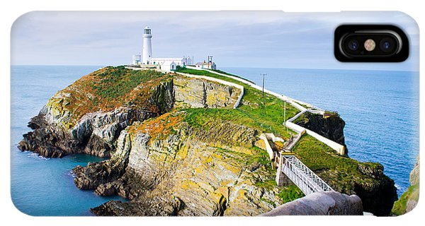 Navigation iPhone XS Max Case - South Stack Lighthouse In Anglesey by Juliuskielaitis