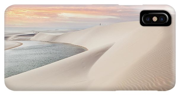 South America iPhone XS Max Case - Sunset Over The Sand Dunes And Lagoons by Thanosquest