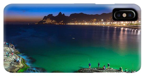 South America iPhone XS Max Case - Sunset View Of Ipanema In Rio De by Catarina Belova
