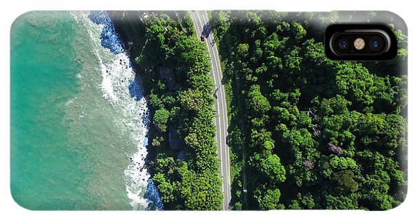 South America iPhone XS Max Case - Top View Of Highway In A Coastline by Gustavo Frazao