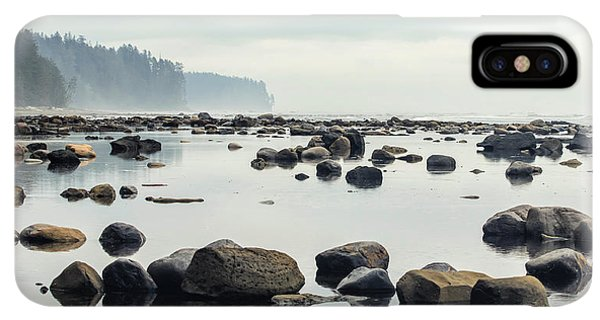 Rocky Mountain iPhone XS Max Case - Tranquil Sea Water Surface Landscape by Anton Bielousov