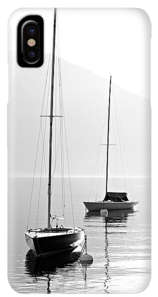 Navigation iPhone XS Max Case - Two Sail Boats In Early Morning On The by Kletr
