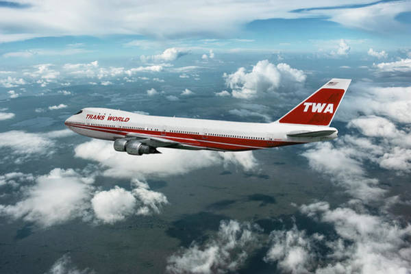 TWA Triple Tail Poster Art Constellation Airliner Trans World Airlines Print 280