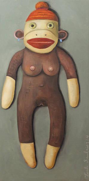 Anatomically Correct Female Sock Monkey Poster