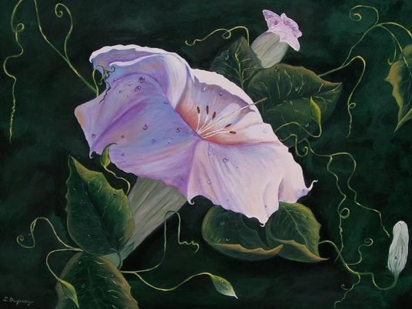 First  Trumpet Flower  Of Summer Poster