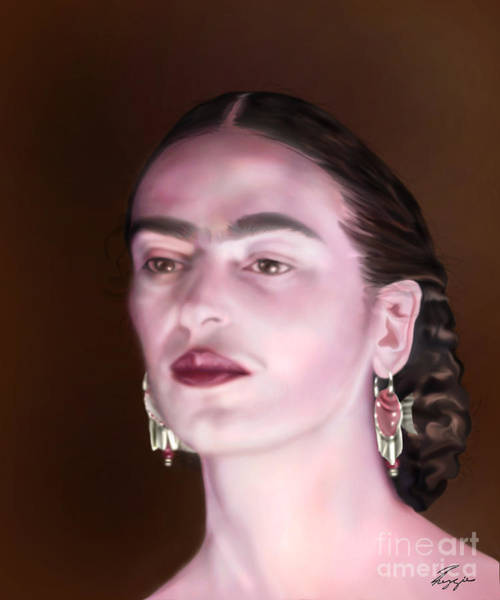 In The Eyes Of Beauty - Frida Poster