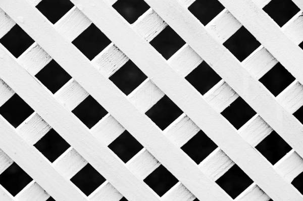 Lattice Fence Pattern Poster