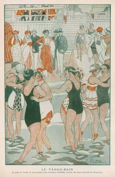 'le Tango-bain' (= Tango-bath) Poster