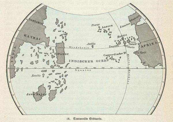 Map Of The Atlantic Ocean According Poster