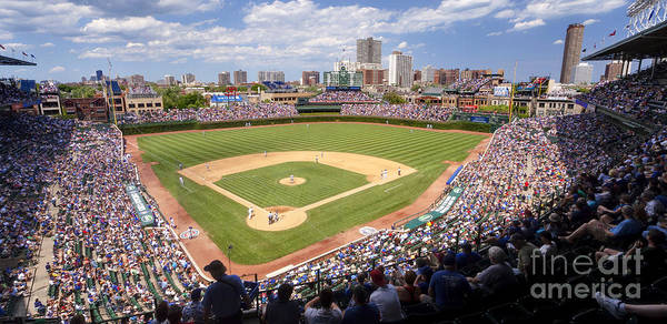 0100 Wrigley Field - Chicago Illinois Poster