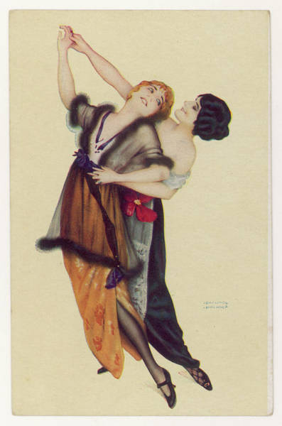 Two Stylishly Dressed Ladies  Dance Poster