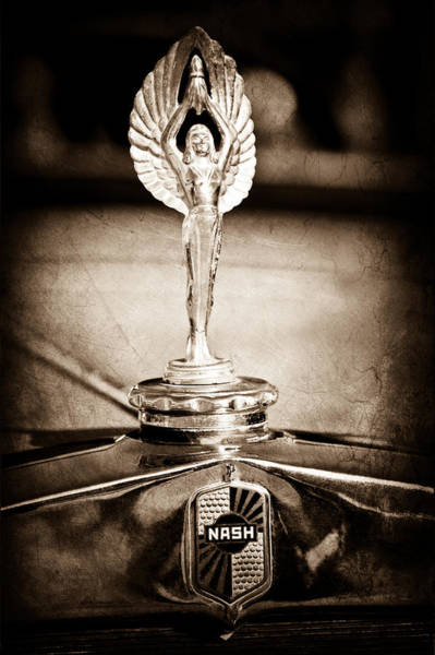 1928 Nash Coupe Hood Ornament Poster